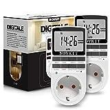 2X NOVKIT Digitale Zeitschaltuhr Steckdose mit 10 konfigurierbaren...