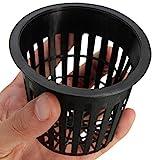10 Stück Hydrokultur-Netztöpfe , schwarzer Kunststoff, zur Anzucht...