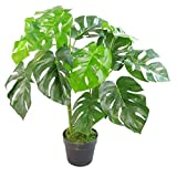Leaf Künstliche Pflanze mit Blättern, Schwarz, 80 cm Monstera, 80cm...