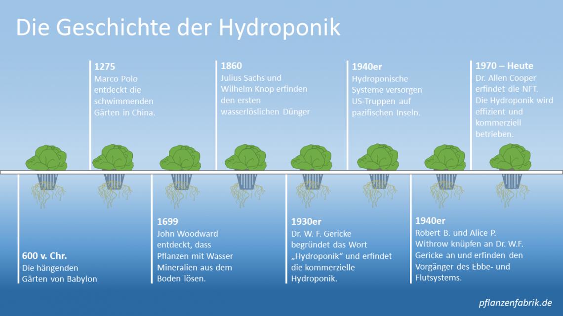 Die Geschichte der Hydroponik